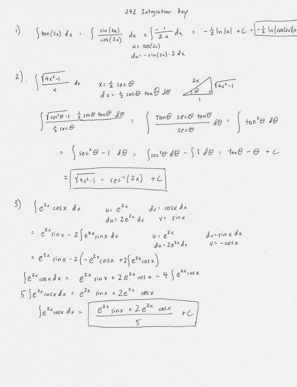 Worksheets. Integration By Parts Worksheet. Laurenpsyk Free Worksheets ...